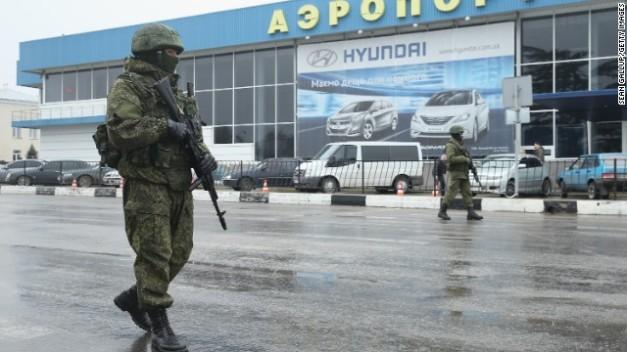 <> on February 28, 2014 in Simferopol, Ukraine.
