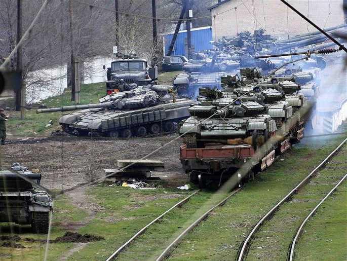 Russian tanks Border