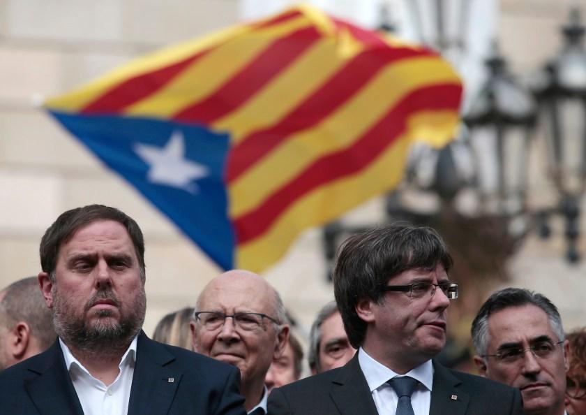 Carles Puigdemont, Oriol Junqueras, Ada Colau